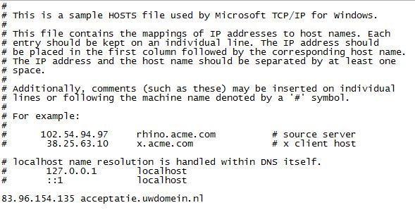 Hostfile-toevoeging